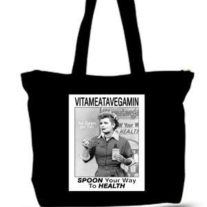 I Love Lucy Vitavegimin Grocery Tote Bag XXXL